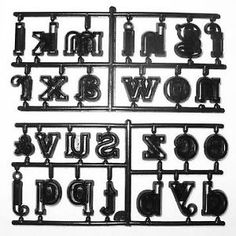 a large alphabet lower cutter set by patchwork cutters
