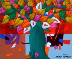 """XAVIER PORTILLA Guayaquil, Ecuador - 1965      """"Una paleta que derrocha arte, color y alegría""""  (1)         XAVIER PORTILLA       """"Nace en G... Folk Art, Tropical, Orange, The Originals, Outdoor Decor, Red, Pictures, Painting, Illustrations"""