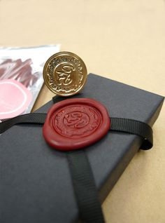Custom Made Wax Seal Stamp Giftset. $38.00, via Etsy.