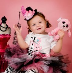 First Birthday Girl Bodysuit Paris Poodle Ooh La La by whimsytots, $32.50