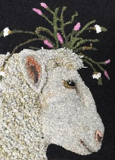 Rug Hooking Magazine - Traditional Rug Hooking Patterns, Primitive Rugs, Inspiration and More - Rug making Rug Hooking Designs, Rug Hooking Patterns, Sheep Rug, Punch Needle Patterns, Hand Hooked Rugs, Primitive Hooked Rugs, Rug Inspiration, Penny Rugs, Traditional Rugs