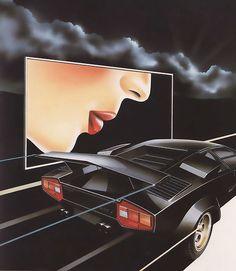 Vintage & second hand clothing/ Airbrush design Vaporwave, 80s Posters, Color Posters, 1980s Art, Retro Kunst, 80s Neon, Arte Cyberpunk, Italo Disco, 80s Design