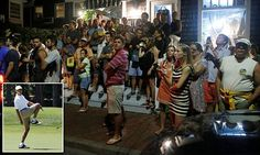 Barack Obama fans crowd outside restaurant where he was spotted dining in…