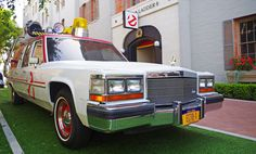 """We're finally getting a new Ghostbusters movie this year, and director Paul Feig has promised more than a few nods to the 1984 original. Here's a close look at the new official """"ECTO-1"""" ghostbusting vehicle, its motorcycle sidekick and some awesome cosplay cars!"""