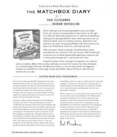The Matchbox Diary Teacher Guide