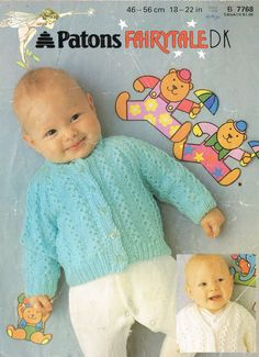 Patons 7768  baby matinee coat vintage knitting pattern PDF instant download