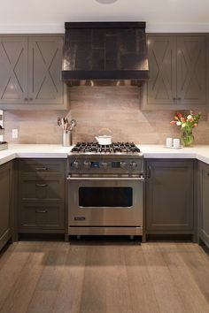 Taupe Cabinets, Contemporary, kitchen, Artistic Designs for Living