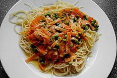 Kinder - Spaghetti mit Erbsen (Rezept mit Bild) von skadel   Chefkoch.de