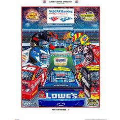 "Sam Bass NASCAR ""Are You Ready?"" Poster by Sam Bass. $19.95. This is a manufacturer direct item and will ship within 3 business days.* The October 2009 Race. The October 2009 Race Week at Lowe's(r) Motor Speedway marks Sam Bass' 60th consecutive program cover illustration for the famed 1.5-mile speedway. Titled ""Are You Ready?"", Bass' program cover art for the fifth (and only night) race in The Chase For The Cup complements the track's ""Homecoming"" theme with ..."