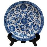 Found it at Wayfair - Floral Decorative Plate in Blue and White