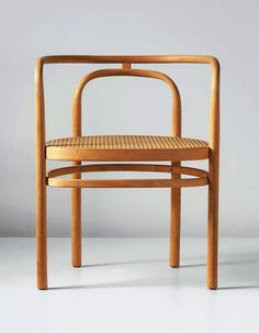 POUL KJÆRHOLM, an early armchair, model no. PK 15, designed 1979, executed 1980. Beech, cane. Manufactured by E. Kold Christensen, Denmark. ...