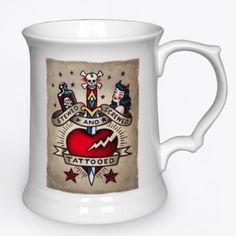 #VINCE #RAY #TANKARD #TATTOO £12.95 http://toxico.uk/37-ceramics