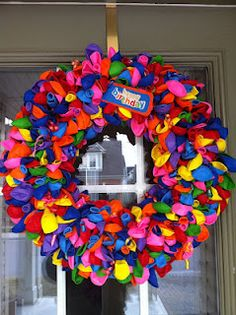 Easy DIY Birthday Wreath