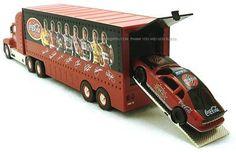 Coca-Cola 2002 NASCAR Carrier Truck with Race Car