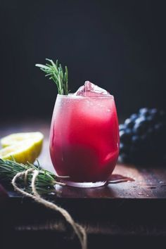 Zinfandel Grape, Rosemary Gin Crush   bojongourmet.com