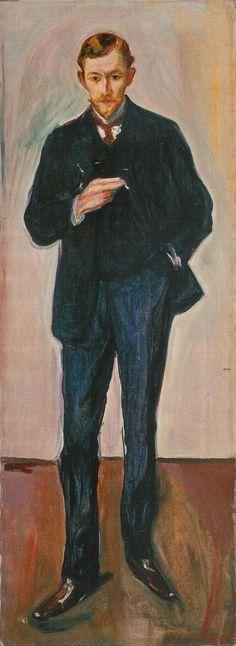 Edvard Munch, De Fransman. 1904 Edvard Munch, Amedeo Modigliani, Francis Bacon, Marcel, Oslo, List Of Paintings, Oil Paintings, Karl Schmidt Rottluff, James Ensor
