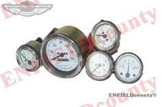 NEW WHITE FACE SPEEDOMETER SPEEDO TEMPERATURE OIL FUEL GAUGE KIT WILLYS MB FORD