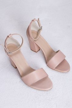 d6b722dc30f A classic heeled shoe by Danish brand Gardenia, made in soft pink/apricot  leather with a steady heel and ankle strap.