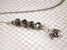 Angel Bookmark Shepherd Hook Silver Angel Glass by CKDesignsUS, $9.00