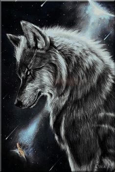 Printed on 200 GSM paper. Edge-to-edge print with no borders. Dimensions 11 inches x 17 inches. Printed in the U. This item is unframed Wolf Photos, Wolf Pictures, Anime Wolf, Wolf Wallpaper, Animal Wallpaper, Wolf Tattoos, Fantasy Wolf, Fantasy Art, Hirsch Silhouette