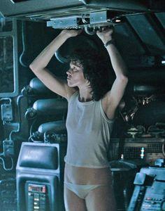 Sigourney Weaver as Ellen Ripley in #Alien (1979)