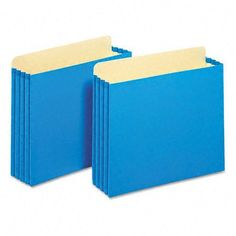 """Globe-Weis® 3 1/2"""" Expansion File Cabinet Pockets, Straight, Letter, Blue, 10 per Box by Globe-Weis®. $24.76. Globe-Weis® 3 1/2"""" Expansion File Cabinet Pockets, Straight, Letter, Blue, 10 per BoxUnique file pocket design has a raised gusset height so that the gussets ride along the file cabinet rails. This eliminates tearing and damage caused by removing file pockets with low gussets. 9 1/2"""" high gussets are reinforced with rip-proof Tyvek® strips along the to..."""