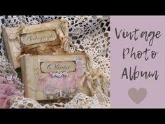 Vintage Photo Album - YouTube Vintage Photo Album, Vintage Photos, Mini Album Tutorial, Junk Journal, Bullet Journal, All Video, Mini Albums, The Creator, Decorative Boxes