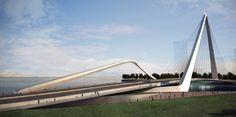 Bridge's Design - Architecture & Engineering Study Architecture, Futuristic Architecture, Contemporary Architecture, Zhuhai, Modern Architects, Bridge Design, Pedestrian Bridge, Santiago Calatrava, Zaha Hadid