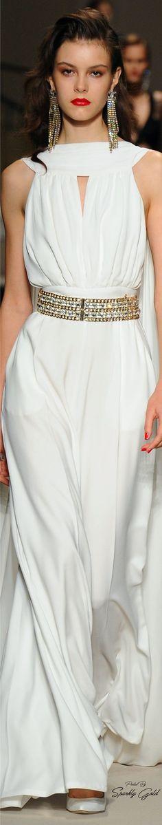 Elisabetta Franchi Spring 2017 Rtw Couture Fashion Runway White