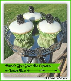 Are you having book club, small group or just friends over to chat?  Mama's #GlutenFree Green Tea Cupcakes with Lemon Glaze will be sweet & light addition to your afternoon.
