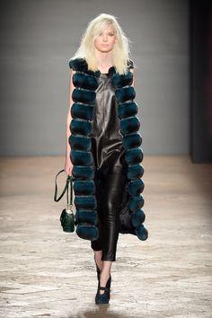 Simonetta Ravizza Dyed Chinchilla Fur and Python Vest
