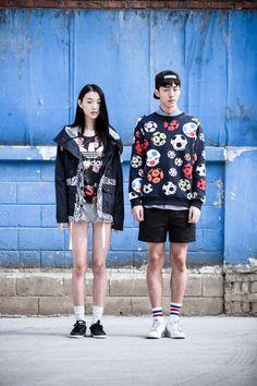 Choi Sora and Nam Joo Hyuk by Kim Tae Kyun for Adidas Originals S/S 2014 Korea
