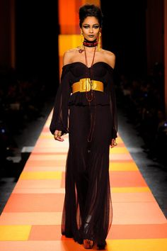 This should be worn on a breezy day to watch how the fabric and lines flow against the natural curves of the body SPRING 2013 COUTURE  Jean Paul Gaultier