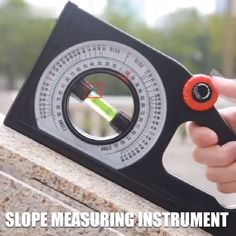 Multi-function Slope Measuring Instrument, Slope slope Angle at a glance. The graduated rotating wheel is used to adjust the position of the bubble in the level pipe. Clear scale, a large number of the readable disc, easy to read. Homemade Tools, Diy Tools, Hand Tools, Measuring Instrument, Construction Tools, Garage Tools, Gadgets And Gizmos, Cool Inventions, Power Tools