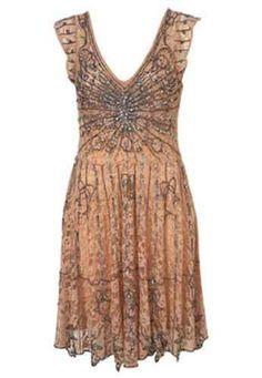 TOPSHOP Ed Art Deco 1940's Bead Jewel Party Cocktail Dress 16 12 44 RARE | eBay