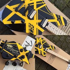 EVH Wolfgang in limited striped colours.