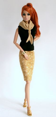 Top Skirt and Scarf for Barbie Silkstone by ChicBarbieDesigns