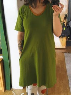 Green dresses and roses in the pockets