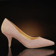 MONIKA-ROSE-GOLD BY BADGLEY MISCHKA! $195 at MyGlassSlipper.com!