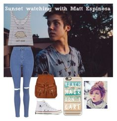 """Sunset watching with Matt Espinosa"" by leila-hussain ❤ liked on Polyvore"