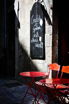 English spoken, with a French accent! St.-Malo, Brittany