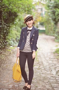 Yellow Brick Road (by Valentine Hello) - http://lookbook.nu/look/4832143-Etam-Straw-Boater-Hat-Choies-Top-Olive-Marine