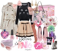 """I believe in pink"" by enjoyjessica on Polyvore"