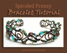 Spiraled Frenzy Annealed Copper Wire Bracelet by LostMarbles