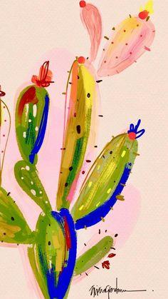 Untitled Cactus Painting, Painting & Drawing, Kids Art Class, Art For Kids, Cactus Backgrounds, Cactus Pictures, Cactus Photography, Aztec Art, Motif Floral