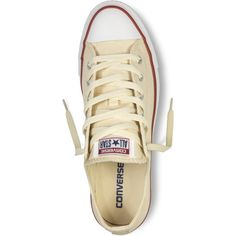 Converse Chuck Taylor All Star Classic Colors – white Sneakers ($50) ❤ liked on Polyvore featuring shoes, sneakers, canvas shoes, rocker shoes, converse sneakers, converse shoes and white trainers