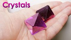 Hello everyone, in this video I'll show you how to grow a beautiful purple single crystal. For this we'll need the following substances – potassium and chrom...