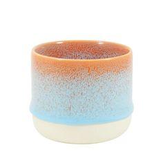 Small hand-cast porcelain cup for the quick espresso and creamy cortado.