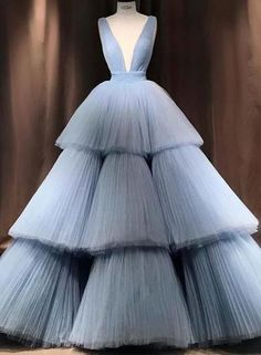Blue v neck tulle long prom gown, formal dress, Shop plus-sized prom dresses for curvy figures and plus-size party dresses. Ball gowns for prom in plus sizes and short plus-sized prom dresses for Princess Prom Dresses, V Neck Prom Dresses, Long Prom Gowns, Cheap Prom Dresses, Formal Evening Dresses, Quinceanera Dresses, Formal Prom, Dress Formal, Red Evening Gowns