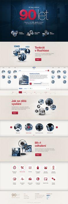 Český Rozhlas - 90th Anniversary by Jan Kolář, via Behance